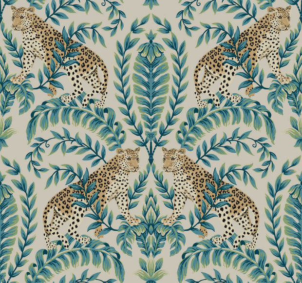 Ronald Redding 24 Karat Jungle Leopard Wallpaper - Taupe