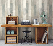 Simply Farmhouse Pallet Board Wallpaper - Natural