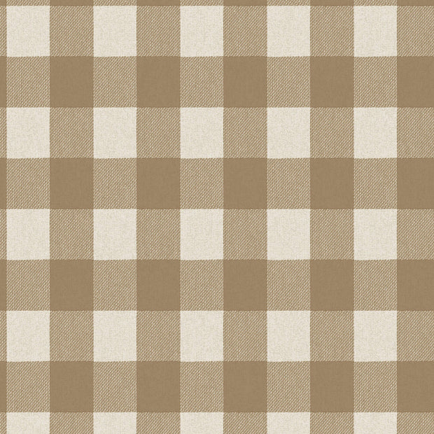 LL4776 Urban Buffalo Check Wallpaper Beige Dark Green