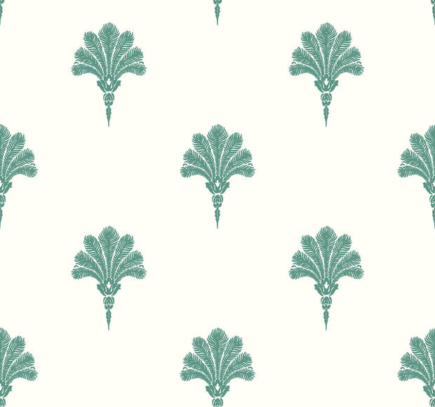 Beach House Summer Fan Wallpaper - Tropic Green