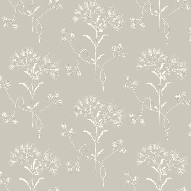 ME1516 Magnolia Home Wildflower Wallpaper Light Grey White