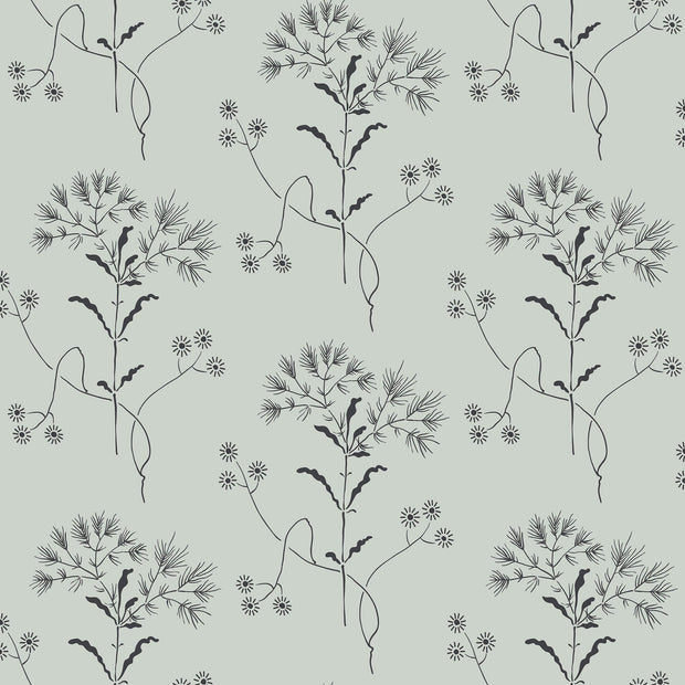 ME1517 Magnolia Home Wildflower Wallpaper York Blue Black