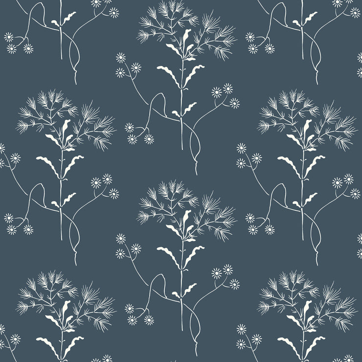 ME1518 Magnolia Home Wildflower Wallpaper York White Navy