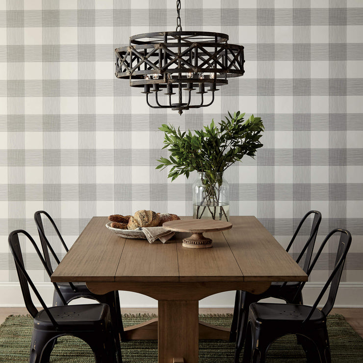 ME1520 Magnolia Home Common Thread Kitchen Wallpaper Black on White
