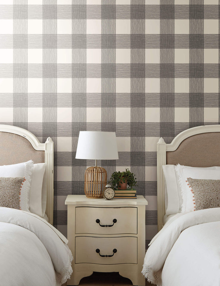 ME1520 Magnolia Home Common Thread Bedroom Wallpaper Black on White