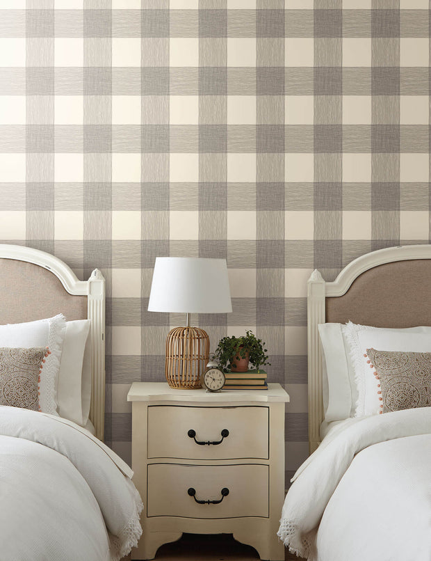 ME1523 Magnolia Home Common Thread Bedroom Wallpaper Cream Black