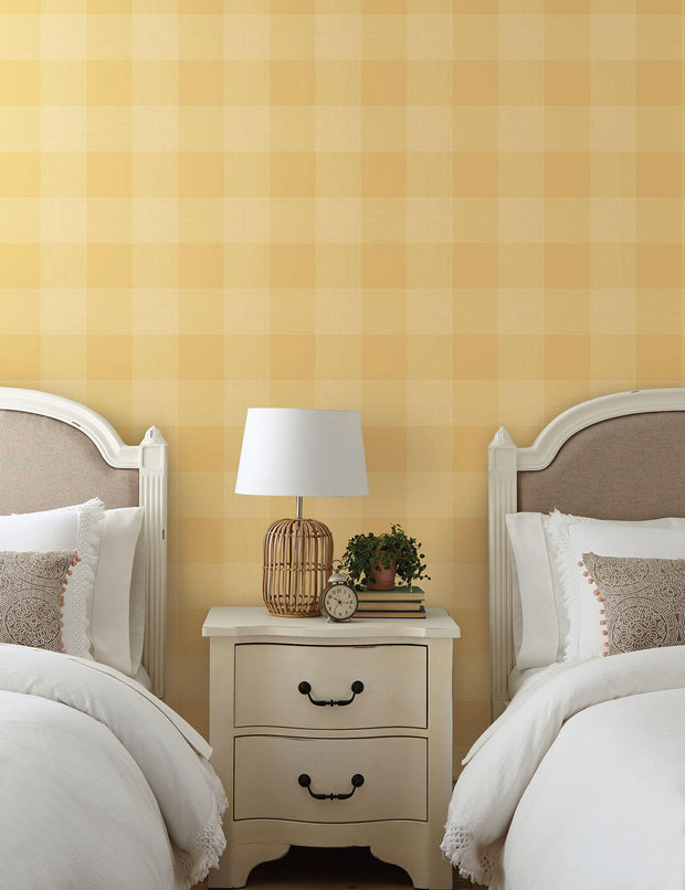ME1525 Magnolia Home Common Thread Bedroom Wallpaper Yellow