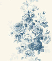 ME1531 Magnolia Home Tea Rose Wallpaper Blue