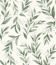 ME1535 Magnolia Home Olive Branch Wallpaper Grove Green