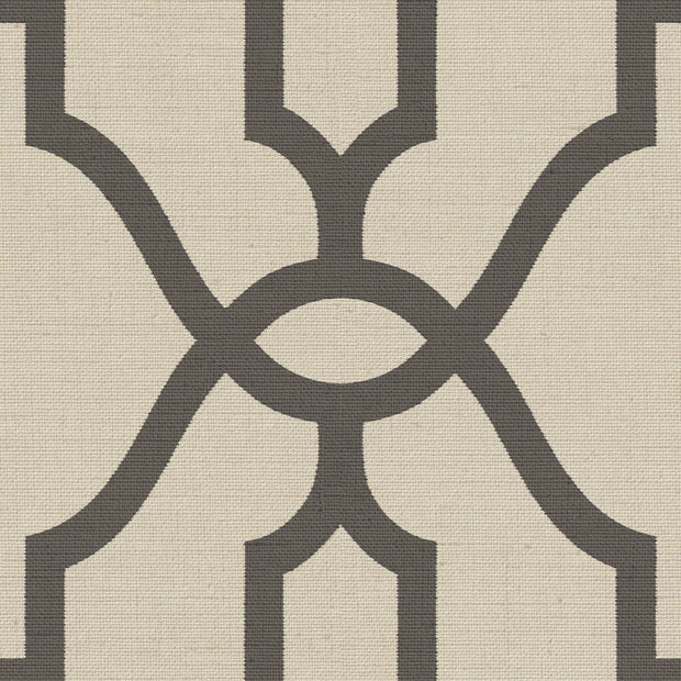 ME1551 Magnolia Home Woven Trellis Wallpaper Charcoal Khaki