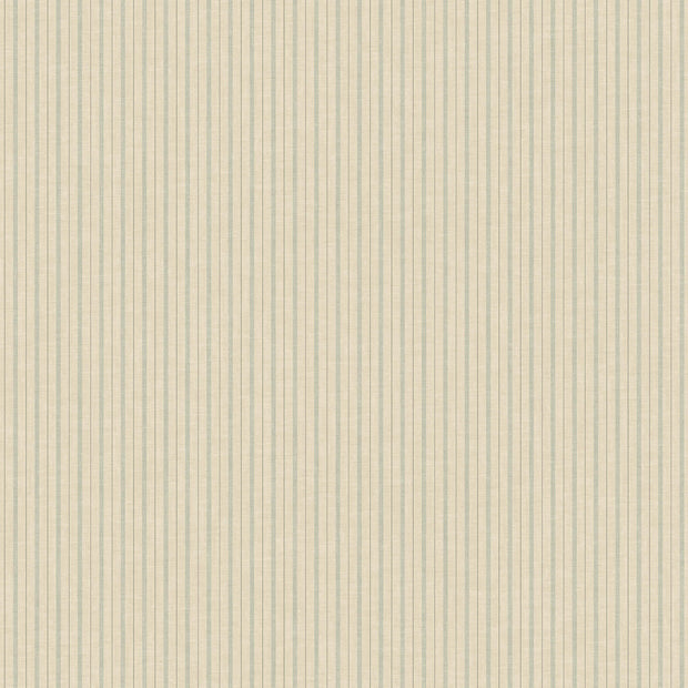 ME1560 Magnolia Home French Ticking Wallpaper Khaki Light Blue