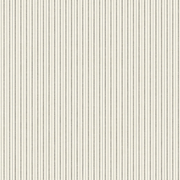 ME1561 Magnolia Home French Ticking Wallpaper Charcoal Black
