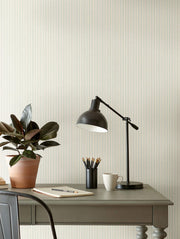 ME1562 Magnolia Home French Ticking Office Wallpaper Light Blue