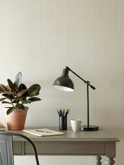 ME1563 Magnolia Home French Ticking Office Wallpaper Cream
