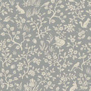 ME1571 Magnolia Home Fox & Hare Wallpaper Grey