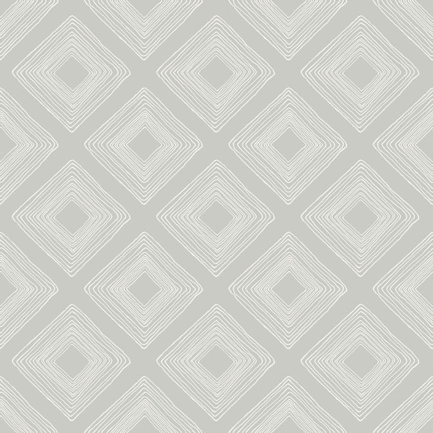 ME1575 Magnolia Home Diamond Sketch Wallpaper Light Grey