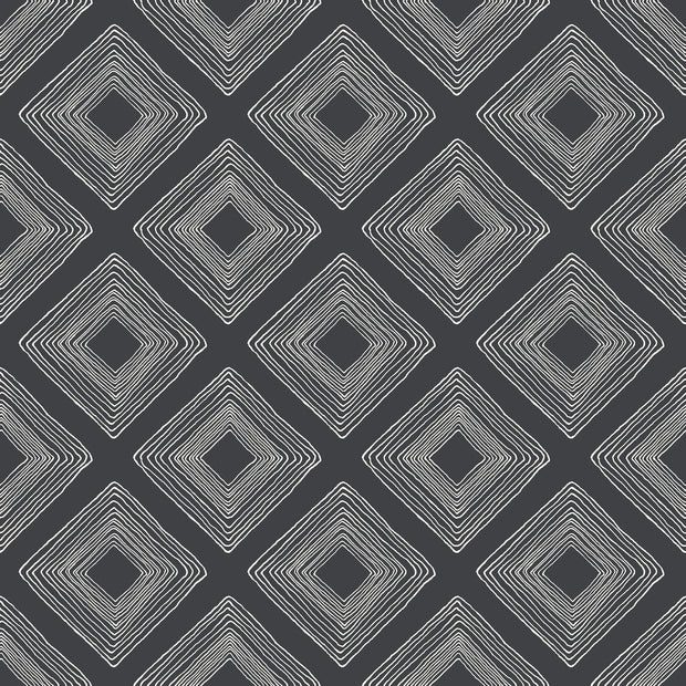 ME1576 Magnolia Home Diamond Sketch Wallpaper White on Black