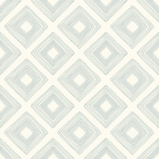 ME1578 Magnolia Home Diamond Sketch Wallpaper Eggshell Blue