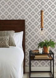 ME1579 Magnolia Home Diamond Sketch Bedroom Wallpaper Black on White
