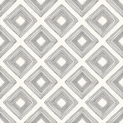 ME1579 Magnolia Home Diamond Sketch Wallpaper Black on White