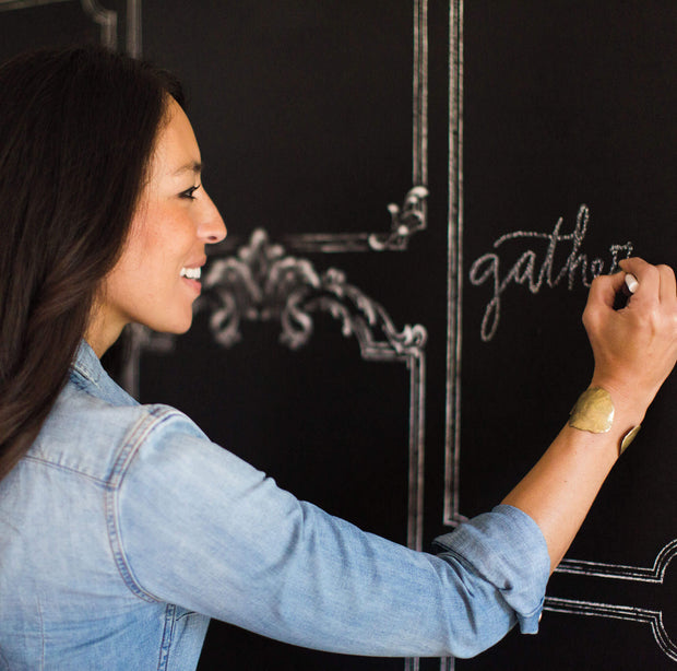 MH1532 Magnolia Home Black Chalkboard Wallpaper Joanna Gaines