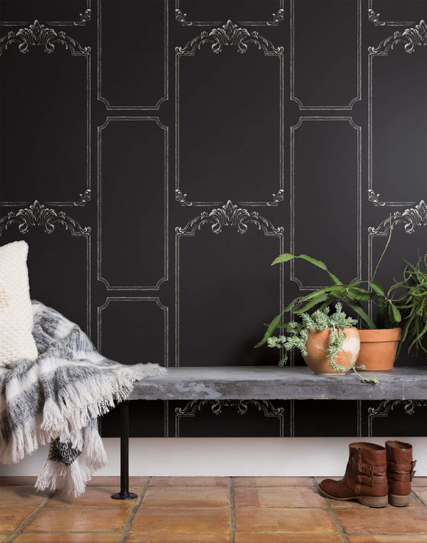 MH1532 Magnolia Home Black Chalkboard Wallpaper