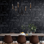 MH1536 Magnolia Home The Market Wallpaper Black White