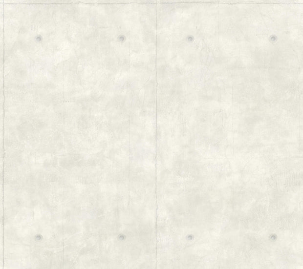 MH1551 Magnolia Home Concrete Wallpaper White Gray
