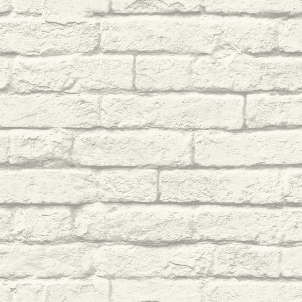 MH1555 Magnolia Home Brick-and-Mortar Wallpaper York White