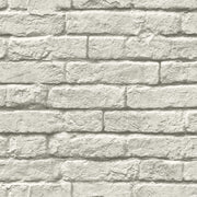 MH1556 Magnolia Home Brick and Mortar Wallpaper Gray White