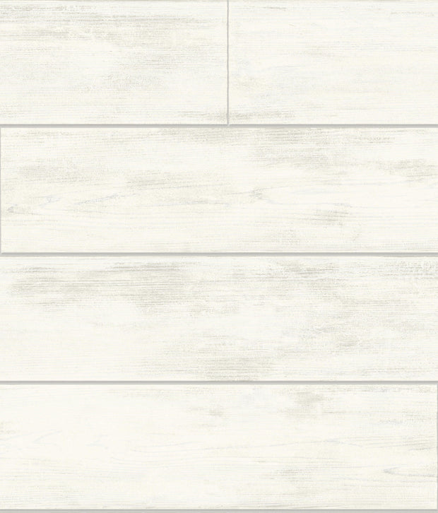 MH1560 Magnolia Home Shiplap Removable Wallpaper Cool White