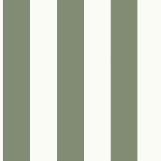 MH1588 Magnolia Home Awning Stripe Wallpaper Olive Green White