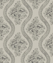 MH1599 Magnolia Home Coverlet Floral Wallpaper Gray