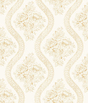 MH1602 Magnolia Home Coverlet Floral Wallpaper Yellow