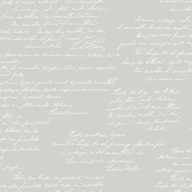 MH1608 Magnolia Home Noteworthy Calligraphy Wallpaper Gray White