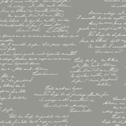 MH1610 Magnolia Home Noteworthy Calligraphy Wallpaper Dark Gray White