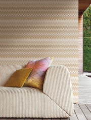 Missoni Home Zig Zag Multicolore Wallpaper - Cream & Tan