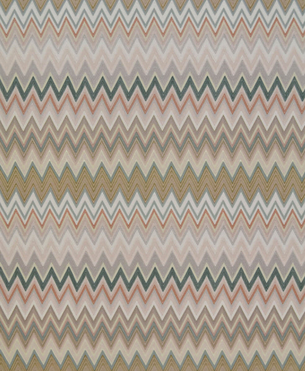 Missoni Home Zig Zag Multicolore Wallpaper - Blush & Jade
