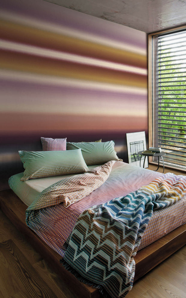 Missoni Home Riga Sfumato Wallpaper Mural - Gold Copper