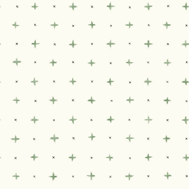 MK1102 Magnolia Home Cross Stitch Wallpaper Green