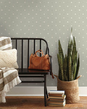 MK1103 Magnolia Home Cross Stitch Wallpaper Grey