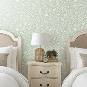 MK1111 Magnolia Home Fox and Hare Wallpaper Green