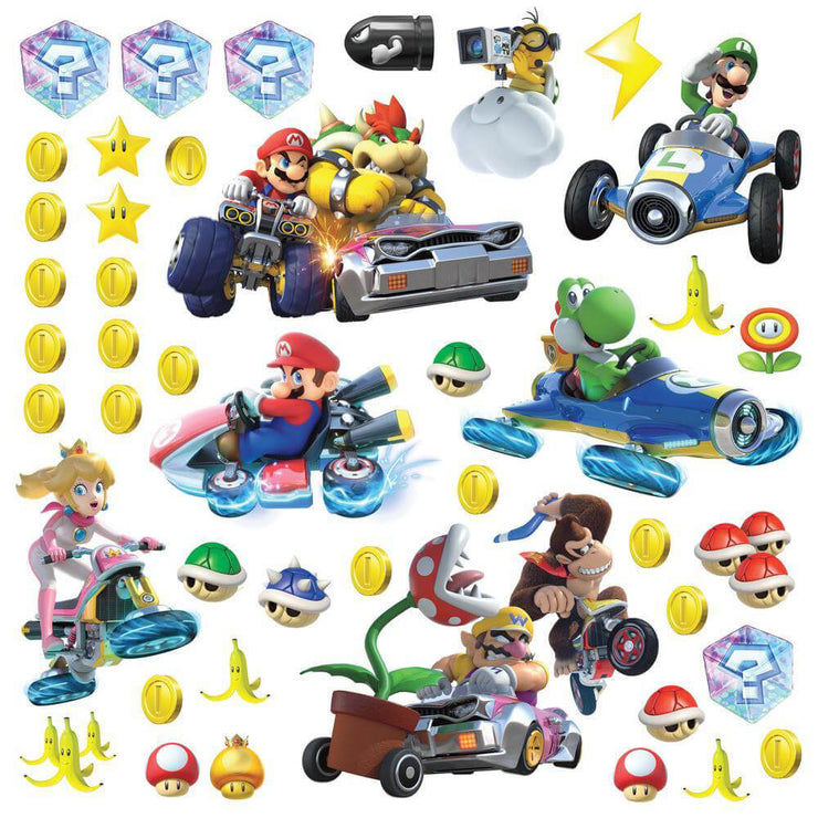 Mario Kart 8 Peel and Stick Wall Stickers
