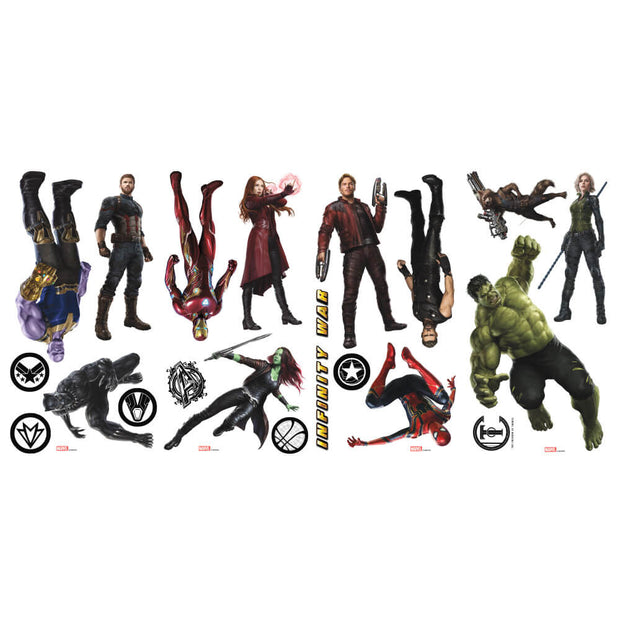 Marvel Avengers Infinity War Characters Peel and Stick Wall Decals