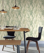 Candice Olson Peaceful Plume Wallpaper - Green