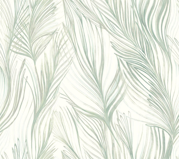 Candice Olson Peaceful Plume Wallpaper - Light Blue