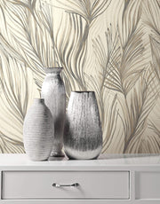 Peaceful Plume Wallpaper by Candice Olson - Dark Grey