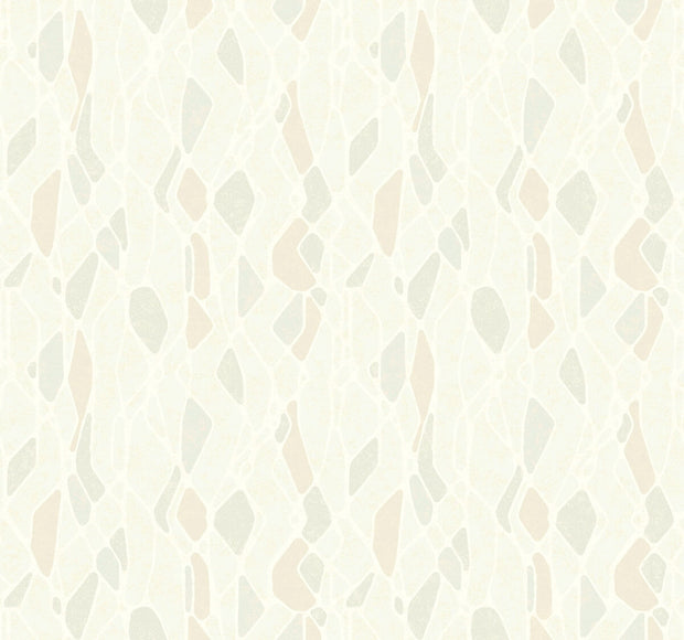 Candice Olson Stained Glass Wallpaper - Beige