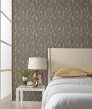 Stained Glass Wallpaper by Candice Olson - Dark Grey