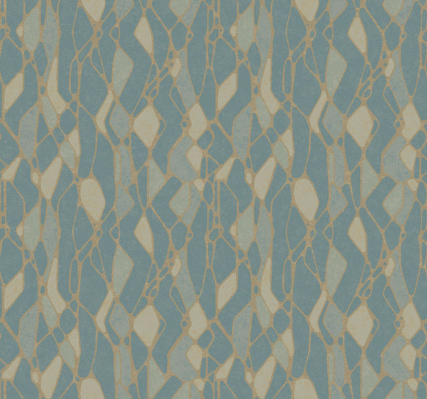 Candice Olson Stained Glass Wallpaper - Blue